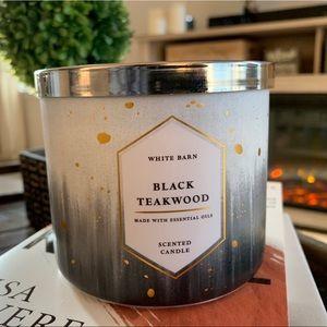 3 Wick Candle: Black Teakwood